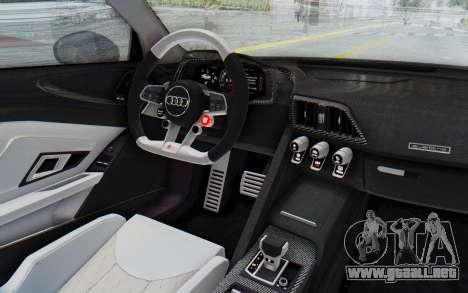 Audi R8 2017 para visión interna GTA San Andreas