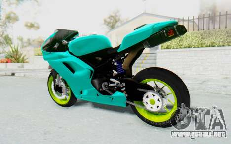 Ducati 1098R Streetrace para GTA San Andreas left