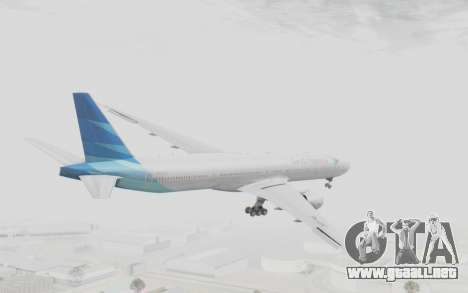 Boeing 777-300ER Garuda Indonesia para la visión correcta GTA San Andreas