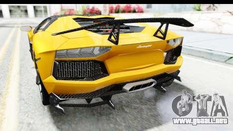 Lamborghini Aventador LP700-4 LB Walk para vista inferior GTA San Andreas