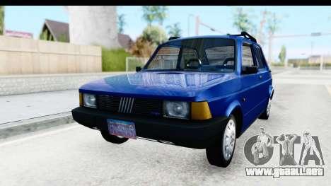 Fiat 147 Spazio TR Stock para GTA San Andreas vista posterior izquierda