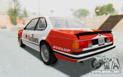 BMW M635 CSi (E24) 1984 HQLM PJ1 para visión interna GTA San Andreas