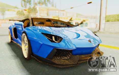 Lamborghini Aventador LP700-4 LB Walk Fenders para GTA San Andreas vista hacia atrás