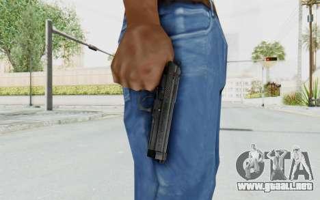 Tariq Iraqi Pistol Back v1 Black para GTA San Andreas tercera pantalla
