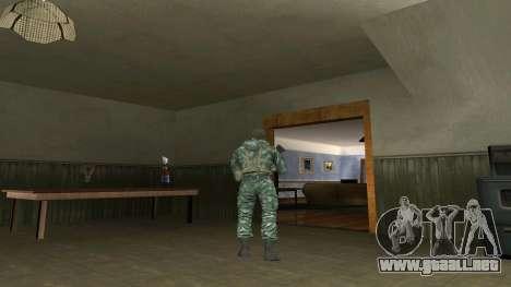 El aire de soldado en el camuflaje de abedul para GTA San Andreas segunda pantalla