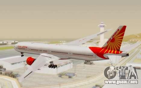 Boeing 777-300ER India Air para GTA San Andreas left