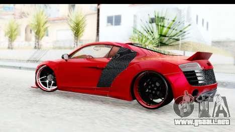Audi R8 5.2 V10 Plus LB Walk para GTA San Andreas left