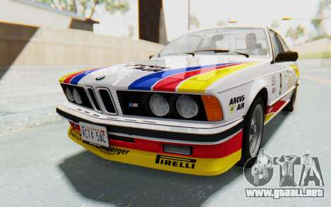 BMW M635 CSi (E24) 1984 HQLM PJ1 para vista inferior GTA San Andreas