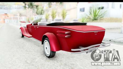 Unique V16 Phaeton para GTA San Andreas left