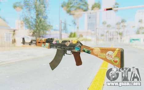 CS:GO - AK-47 Jetset para GTA San Andreas segunda pantalla