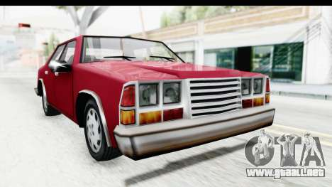 Ford Fairmont from Bully para la visión correcta GTA San Andreas