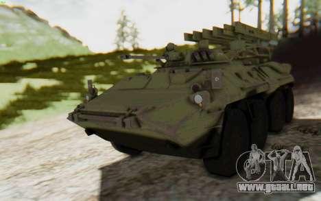 MGSV Phantom Pain ZHUK APC Tank para GTA San Andreas vista posterior izquierda