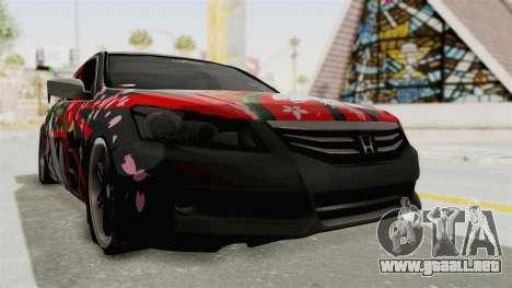 Honda Accord 2011 Hatsune Miku Senbonzakura para la visión correcta GTA San Andreas