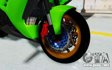 Kawasaki Ninja 250 Abs Streetrace para GTA San Andreas vista hacia atrás