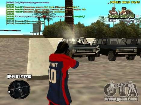 C-HUD Smoke Weed 420 para GTA San Andreas tercera pantalla