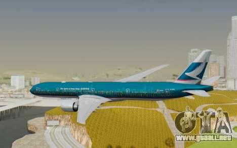 Boeing 777-300ER Cathay Pacific Airways v2 para la visión correcta GTA San Andreas