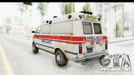 MGSV Phantom Pain Ambulance para GTA San Andreas left