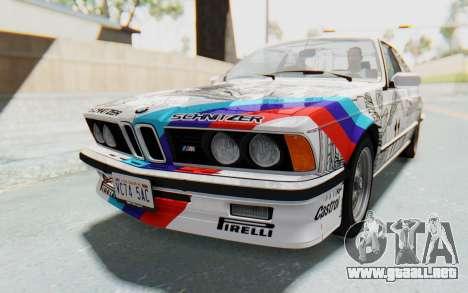BMW M635 CSi (E24) 1984 HQLM PJ1 para vista lateral GTA San Andreas