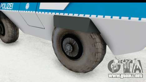 Hermelin TM170 Polizei para GTA San Andreas vista hacia atrás