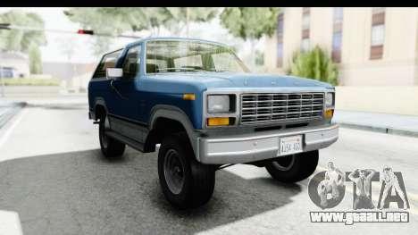 Ford Bronco 1980 para GTA San Andreas