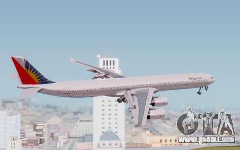 Airbus A340-600 Philippine Airlines para la visión correcta GTA San Andreas