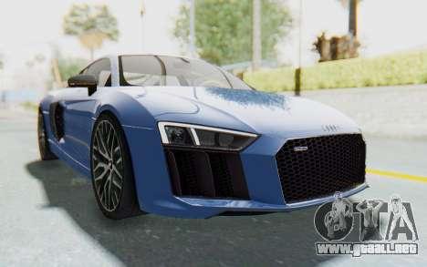 Audi R8 2017 para la visión correcta GTA San Andreas