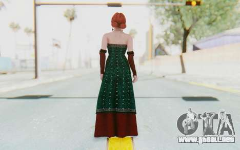 The Witcher 3 - Triss Merigold Dress para GTA San Andreas tercera pantalla
