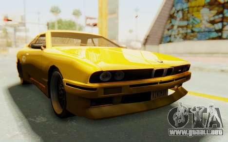 Elegy E30 para GTA San Andreas vista hacia atrás
