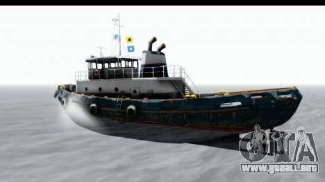 GTA 5 Buckingham Tug Boat v1 para GTA San Andreas vista posterior izquierda