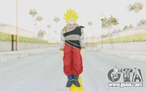 Dragon Ball Xenoverse Goku Yardrat Clothes SSJ para GTA San Andreas segunda pantalla
