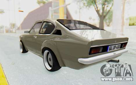 Opel Kadett C Coupe para GTA San Andreas left