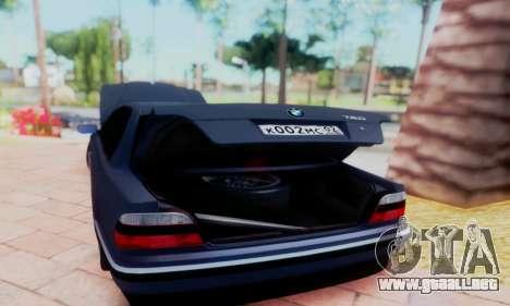 BMW 750 para visión interna GTA San Andreas