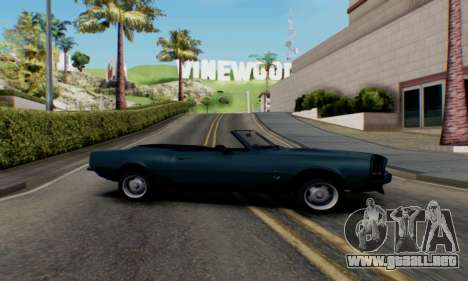 Chevrolet 369 Camaro SS para GTA San Andreas left
