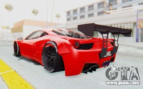 Ferrari 458 Liberty Walk para la visión correcta GTA San Andreas