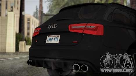 Audi S6 para GTA San Andreas vista hacia atrás