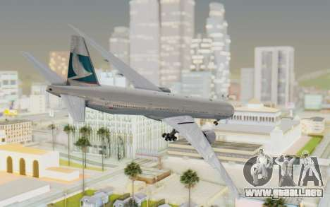 Boeing 777-300ER Cathay Pacific Airways v1 para GTA San Andreas left