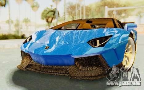 Lamborghini Aventador LP700-4 LB Walk Fenders para GTA San Andreas