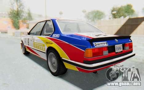 BMW M635 CSi (E24) 1984 HQLM PJ1 para GTA San Andreas interior