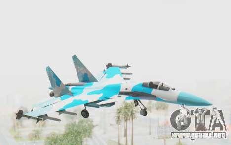 SU-37 American Ornament para GTA San Andreas vista posterior izquierda
