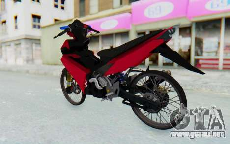 Yamaha Jupiter MX 135 Lock Style para GTA San Andreas left