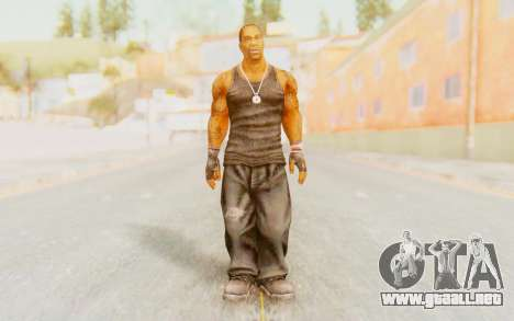 Def Jam Fight For New York - Busta Rhymes para GTA San Andreas segunda pantalla