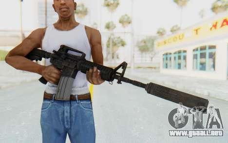 Assault M4A1 Silenced para GTA San Andreas tercera pantalla