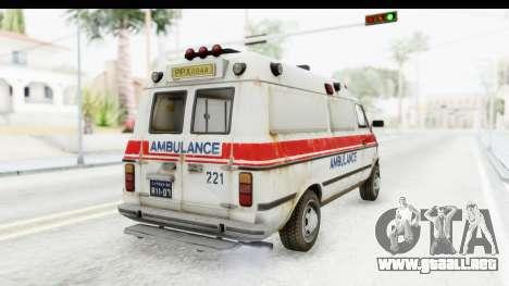MGSV Phantom Pain Ambulance para la visión correcta GTA San Andreas