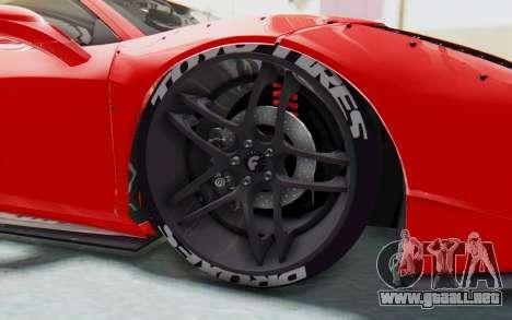 Ferrari 458 Liberty Walk para vista lateral GTA San Andreas