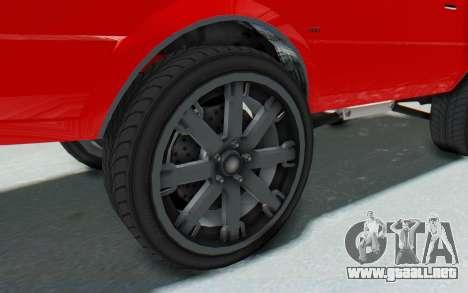 GTA 5 Willard Faction Custom Donk v2 IVF para GTA San Andreas vista hacia atrás