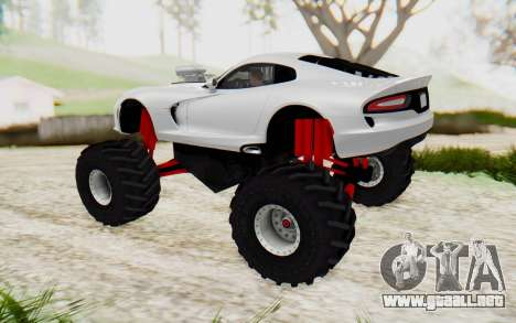 Dodge Viper SRT GTS 2012 Monster Truck para GTA San Andreas left