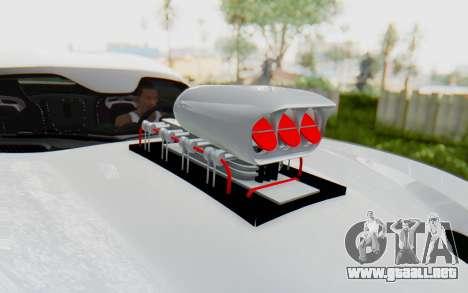 Dodge Viper SRT GTS 2012 Monster Truck para GTA San Andreas vista hacia atrás