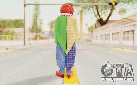 Dead Rising - Adam Macintyre The Clown para GTA San Andreas tercera pantalla