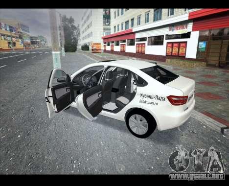 Lada Vesta VESTATEST para GTA San Andreas left