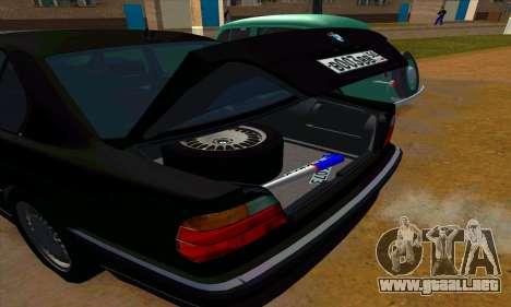 BMW 740i E38 para la vista superior GTA San Andreas